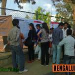 Weekend Warriors interacting with the community from Hebbal and Ganganagar during a community mapping exercise