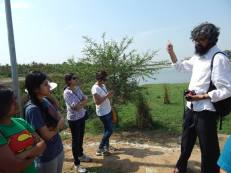 Mr S Vishwanath, working on Jakkur Lake, spent a day with the interns explaining the functioning of the Sewage Treatment Plant at the lake