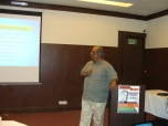 Shri K Jairaj, IAS giving a talk on the working of Urban Local Bodies