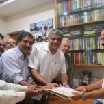 Submitting Suburban Rail Petition to Shri Sadanand Gowda, Union Minister of Railways