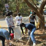 At the Clean-up in Vidyaranyapura