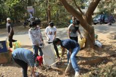 At the Clean-up in Vidyaranyapura