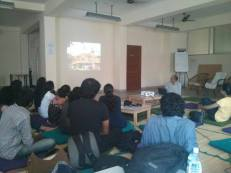 Environmental Action interns with Sathya Prakah Varanashi at Studio Chaape